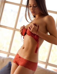 Dani Daniels takes off her red top